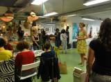 Annabel welcoming participants at the Etsy Craft Party in june 2013