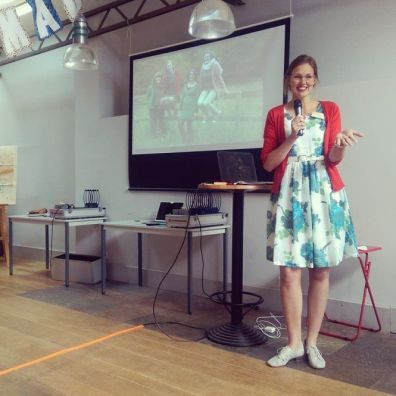 Annabel speaking at the Etsy Captains Summit in Nantes in 2014