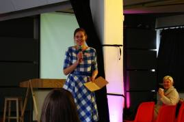 Annabel speaking at the Etsy Captains Summit in Berlin