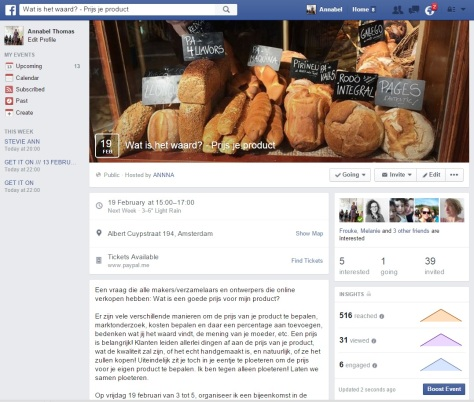 Facebook Event Dutch